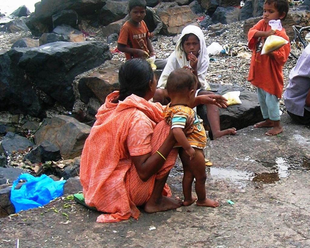 indian family garbage
